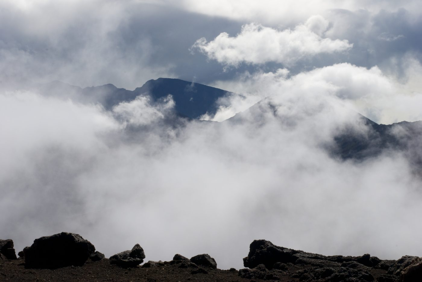 Clouds at the summit of Haleakala