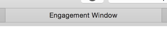 "The tab title is ""Engagement Window."" Eww."